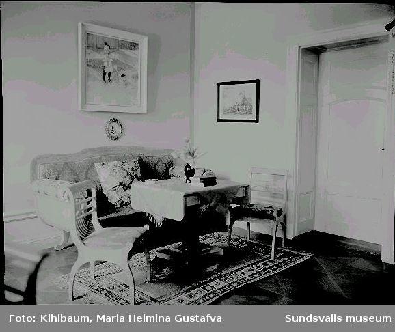 Interiör från Villa Marieberg. Familjen Ando Wikströms bostad.