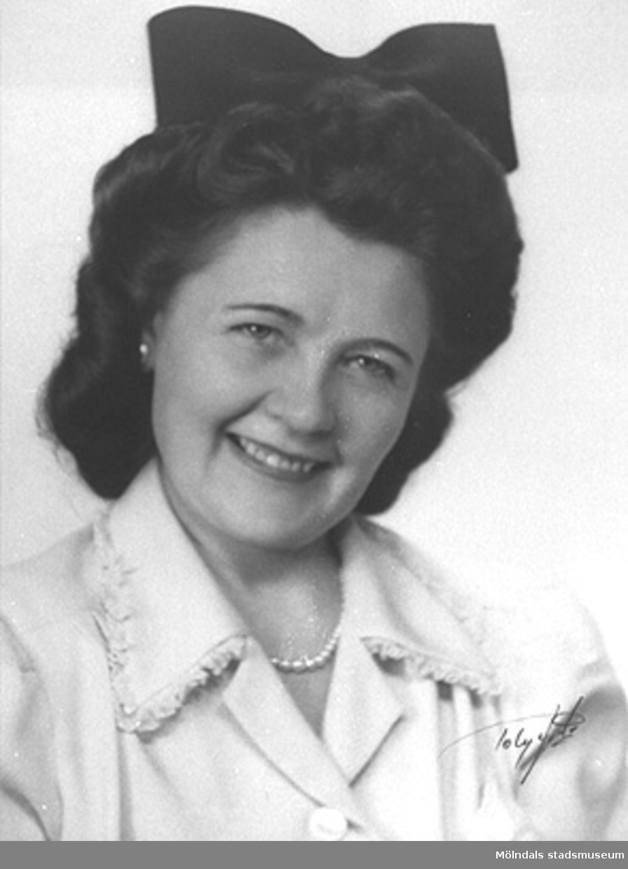 Karin Hasselberg (1903 - 1996) arbetade på Stretereds skolhem 1924 - 1965.