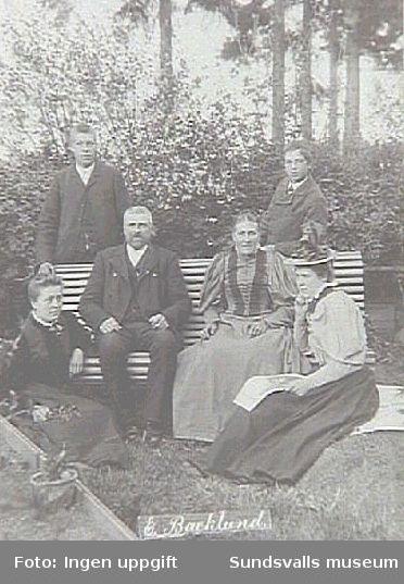 Alnö hembygdsförenings fotosamling Fotografiet taget under patron Öqvists tid som ägare.