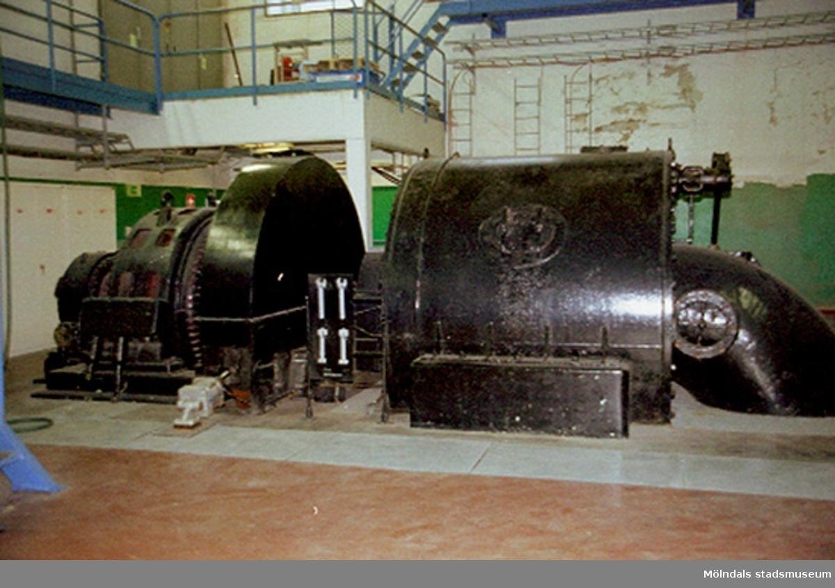 Vattenturbin som kunde ge upp till 1,5 MW. Stora Enso, byggnad 5. Papyrusinventeringen 2001-11-06.
