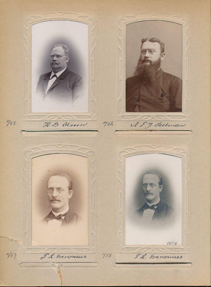 Porträtt av Axel Fredrik Joachim Sellman, postmästare i Vännäs 1891-1898.