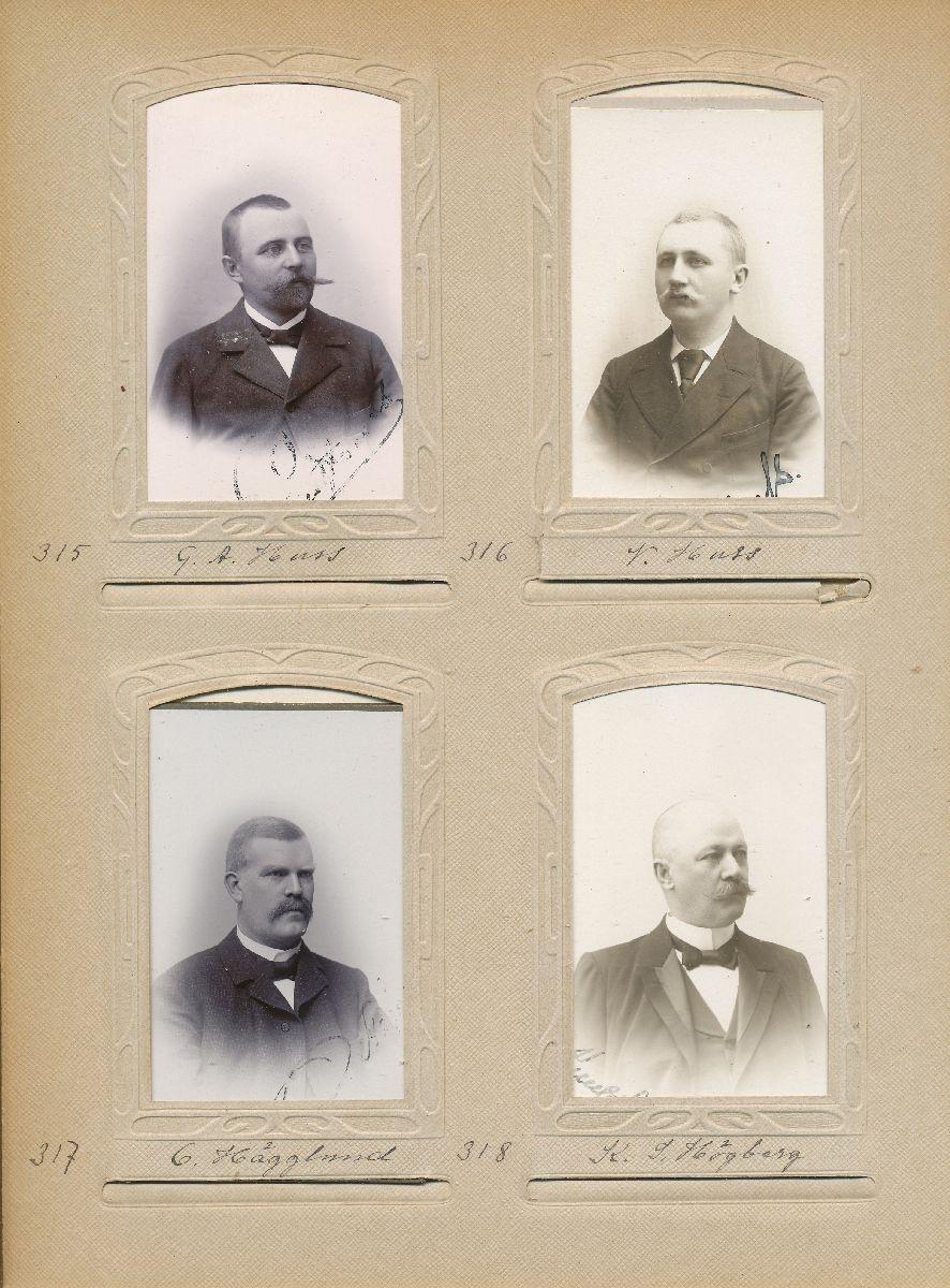 Porträtt av Valfrid Huss, postexpeditör i Sveg 1903.