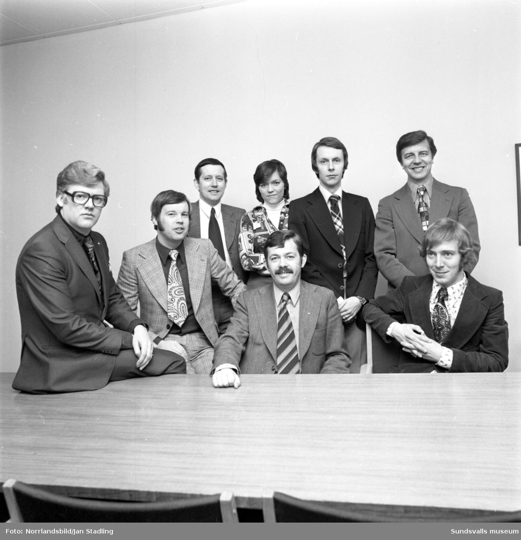 Personalen på Rank Xerox. Gruppbilder och enskilda porträtt.