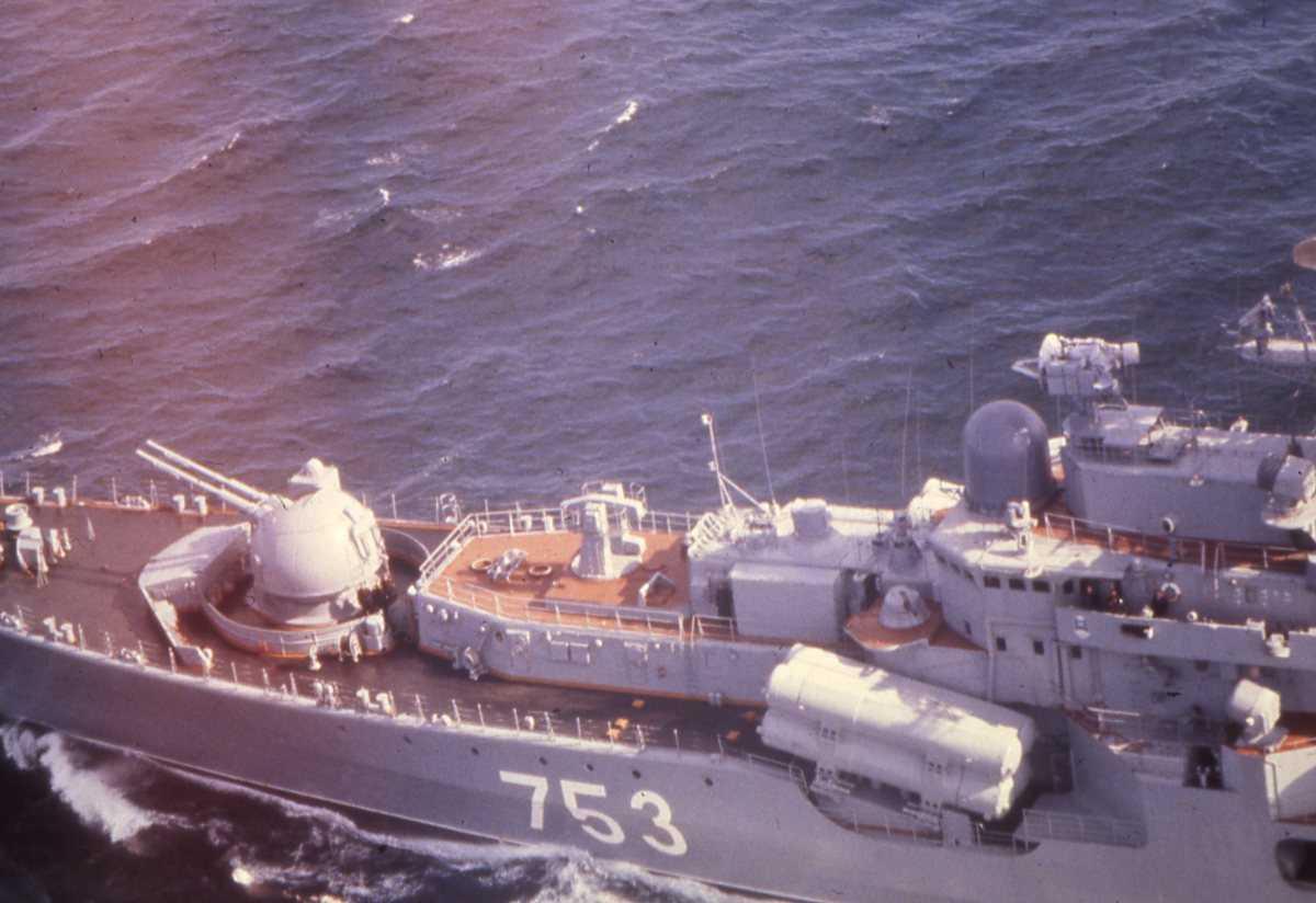 Russisk fartøy av Sovremenny - klassen med nr. 753.