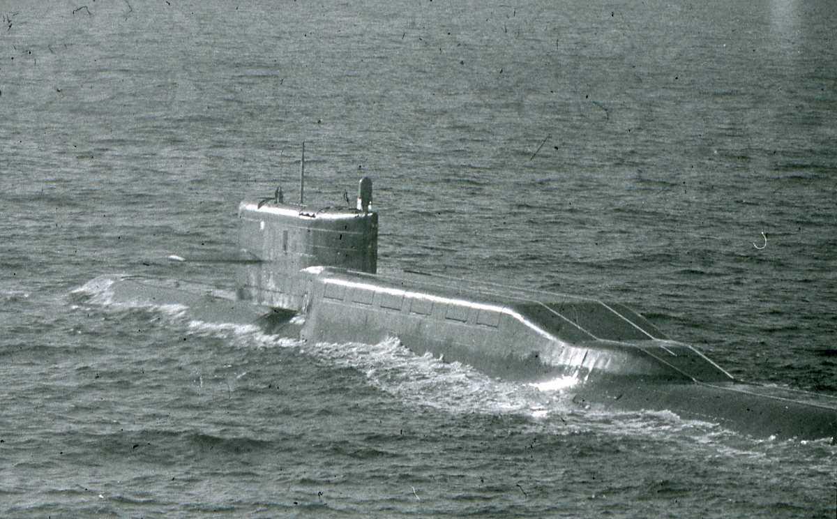 Russisk ubåt av Delta - klassen.