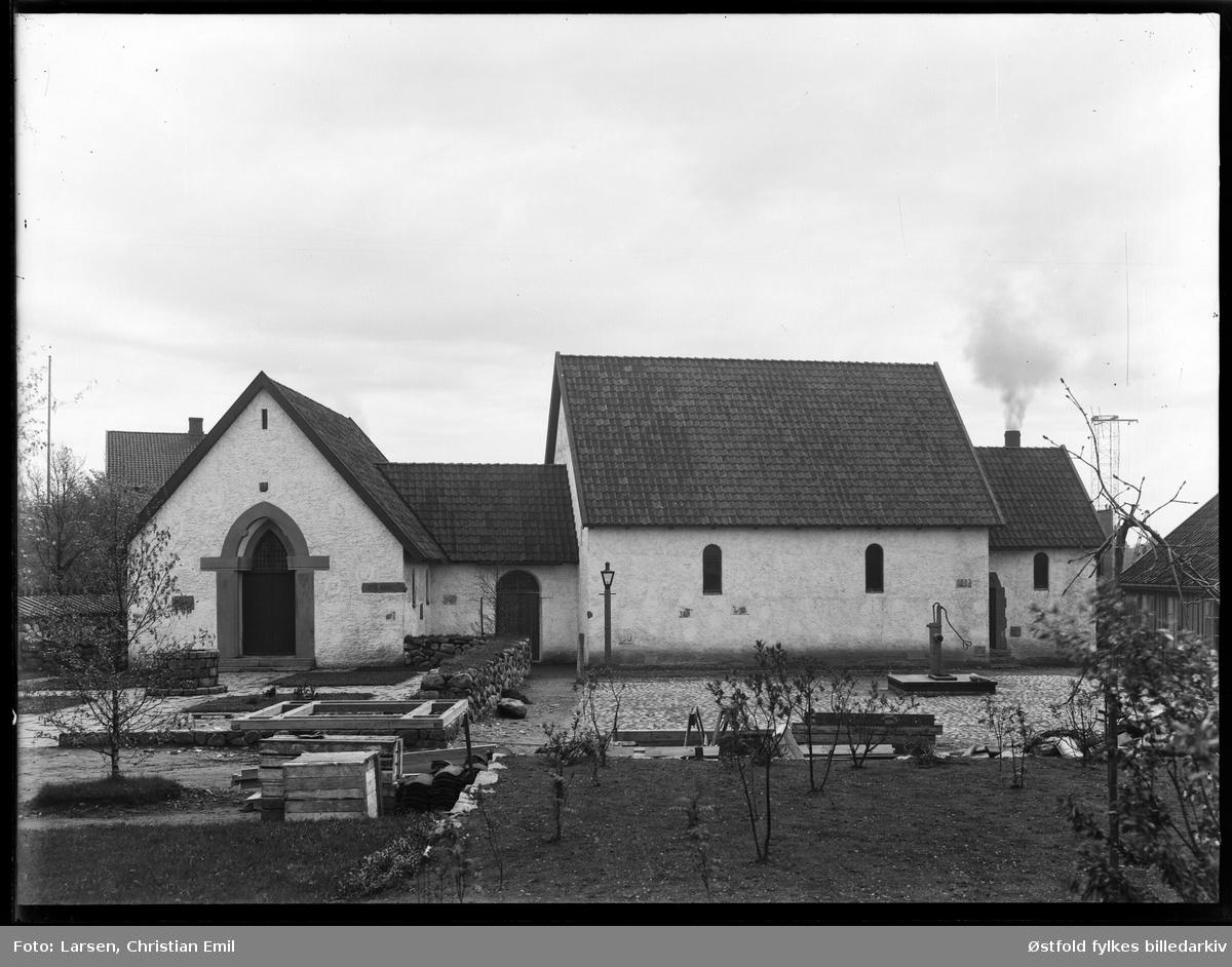 Borgaryssel Musem, Olavskapellet og urtehagen, 1930.
