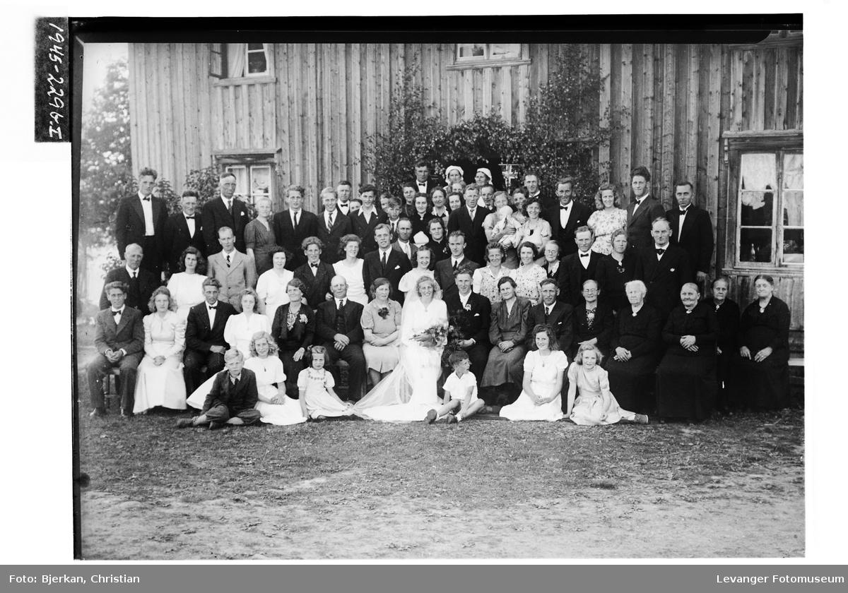 Brudeparet Aasenhus med gjester II