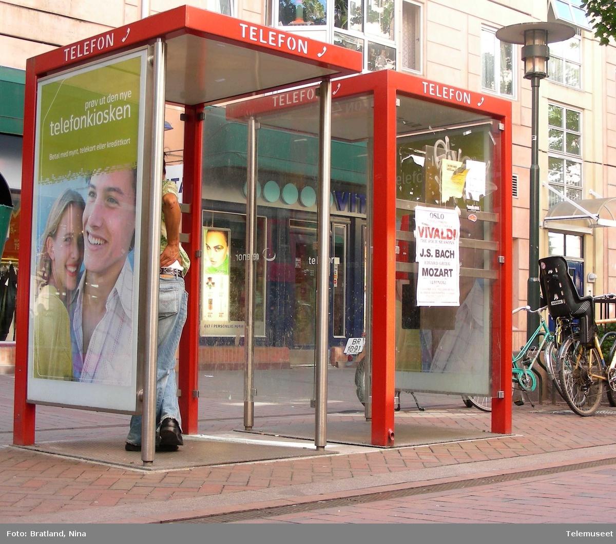 Telefonkiosker i Smalgangen på Grønland i Oslo