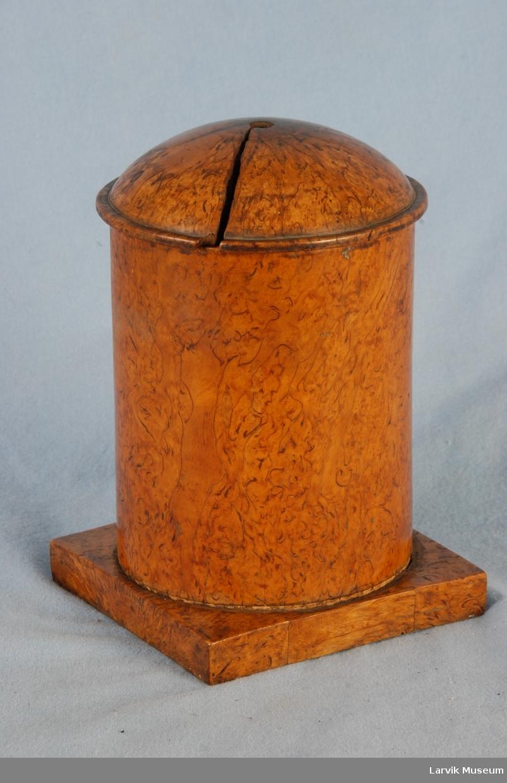 Form: syl.dåse nedf.i kvad.filtbel.fot. løst kupl.lokk