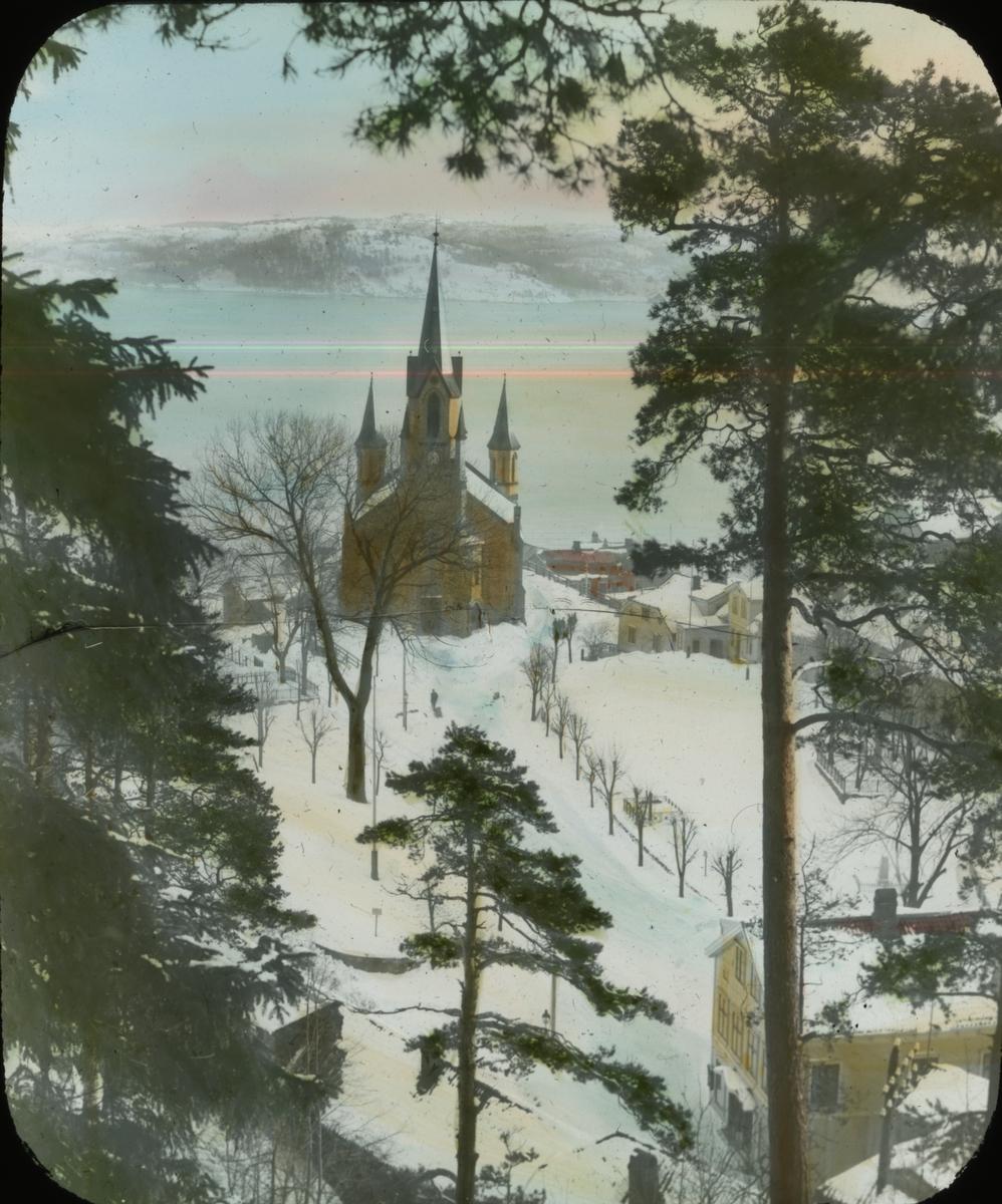 Kragerø kirke tatt fra Steinemann