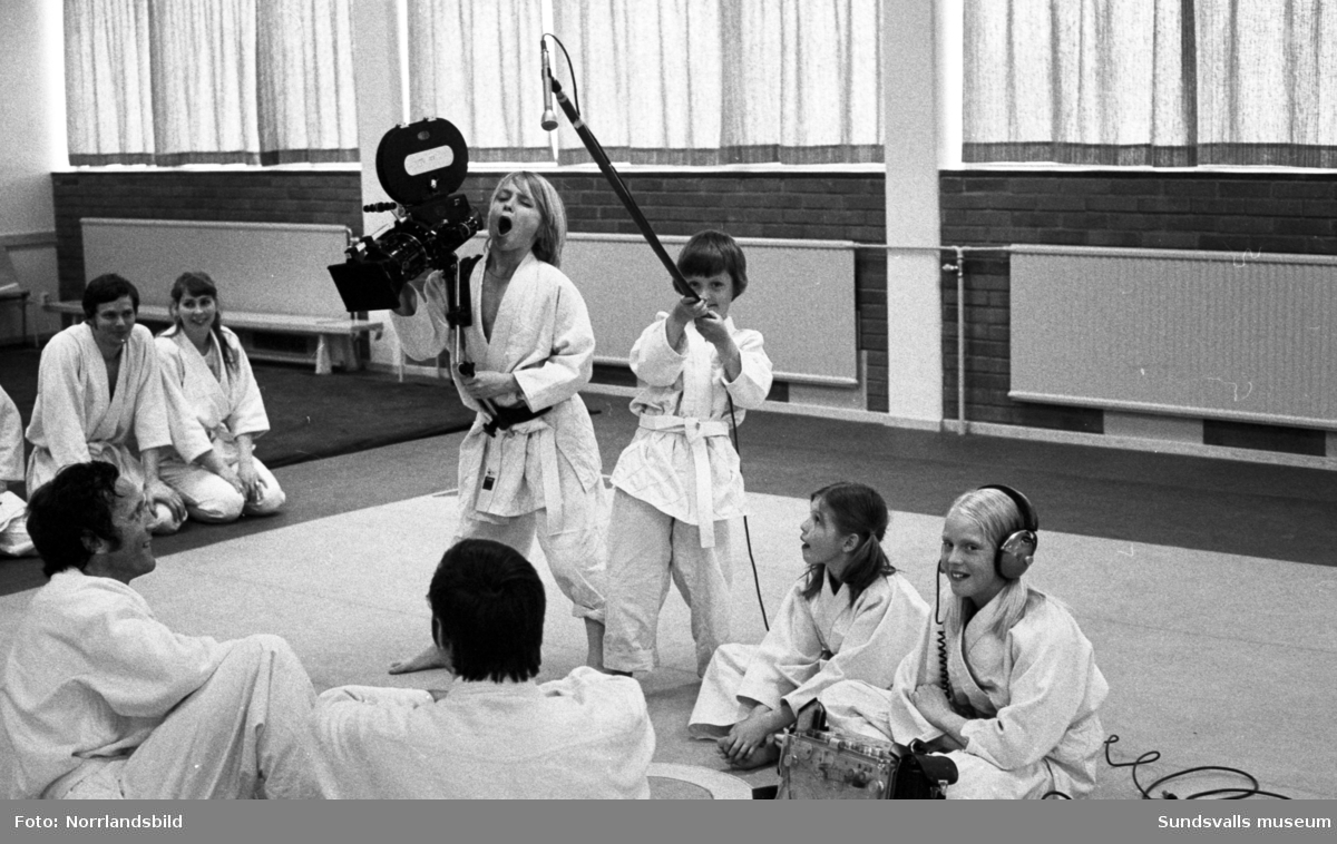 Tv-inspelning om judo i Njurunda.