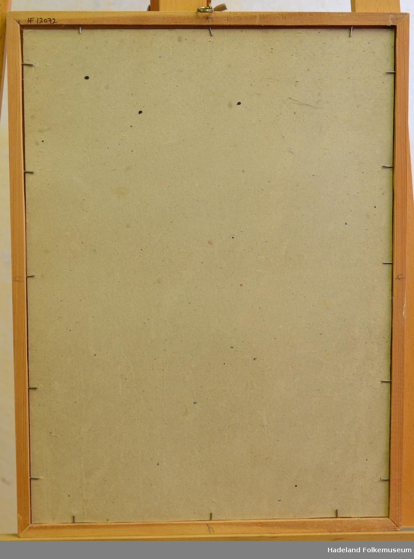 Smal lysbrun ramme uten profil.
