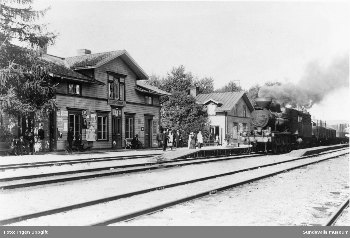 Torpshammars järnvägsstation.