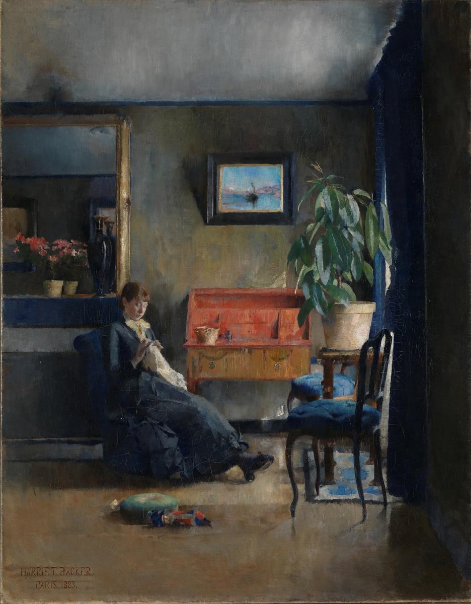 Blått interiør [Maleri]
