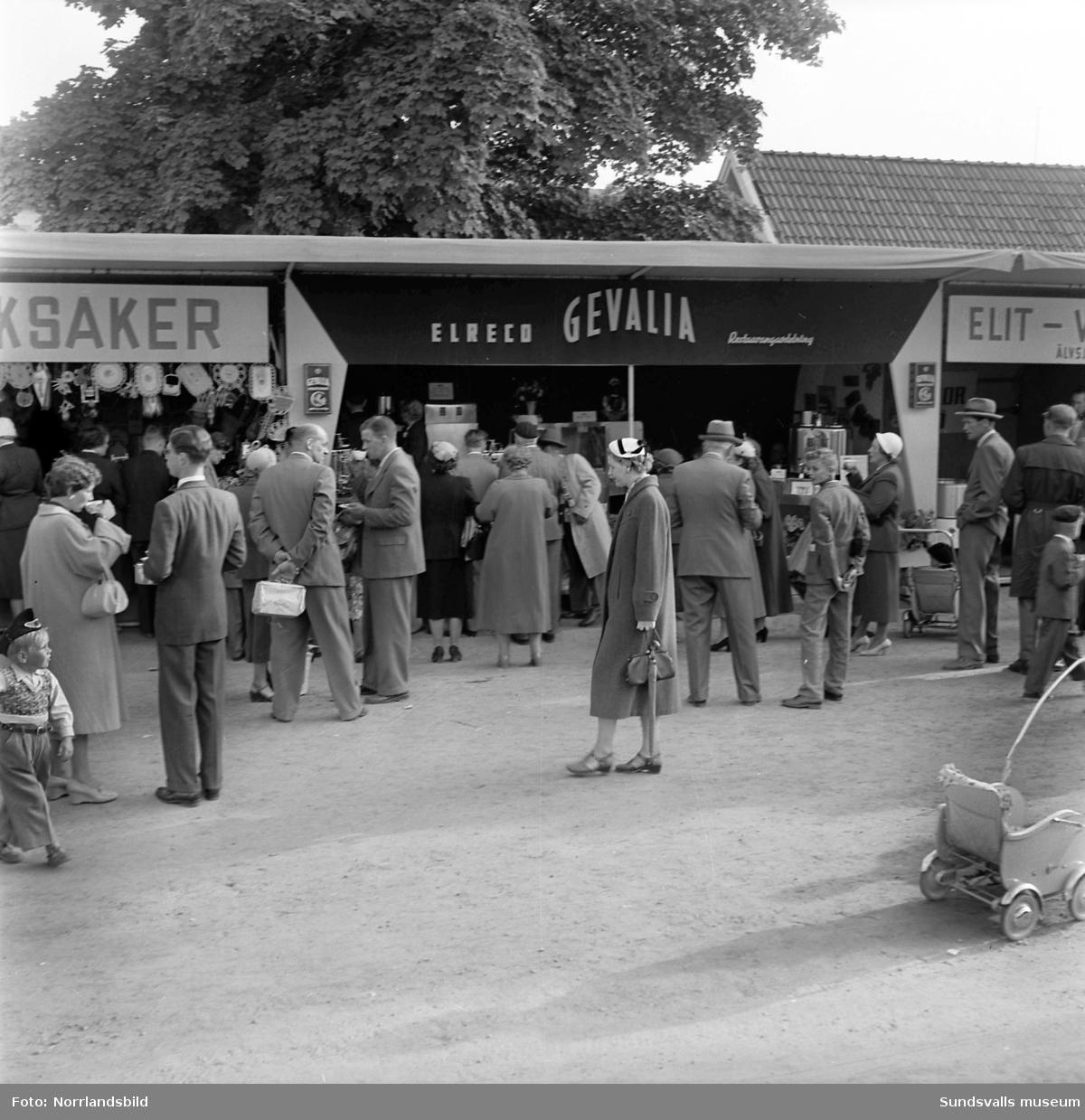 Gevalias monter på Sundsvallsmäsan 1954.
