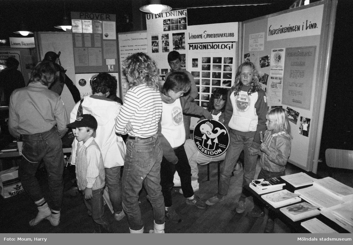 Föreningarnas dag på Almåsgården i Lindome, år 1983. Lindome sportdykarklubb.  För mer information om bilden se under tilläggsinformation.