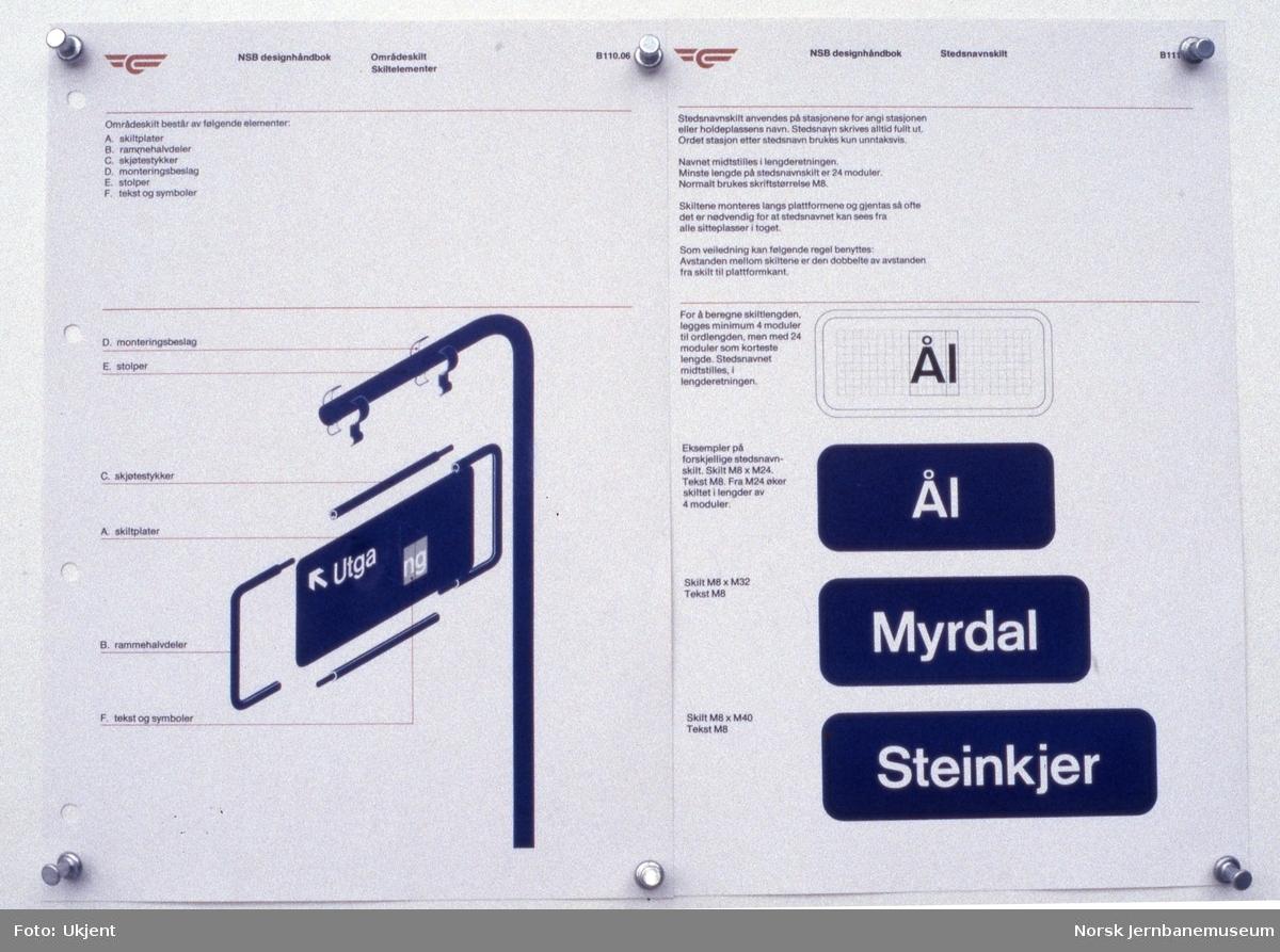 NSBs skiltsystem - fra NSBs designhåndbok