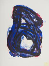 Uten tittel (sort, blå, rød) [Litografi]