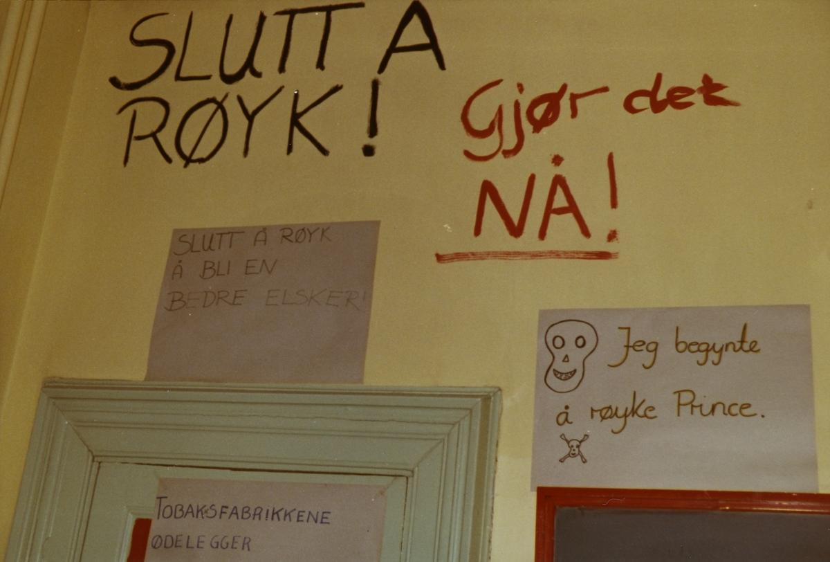 Anti-røykeuke på Møllergata skole.