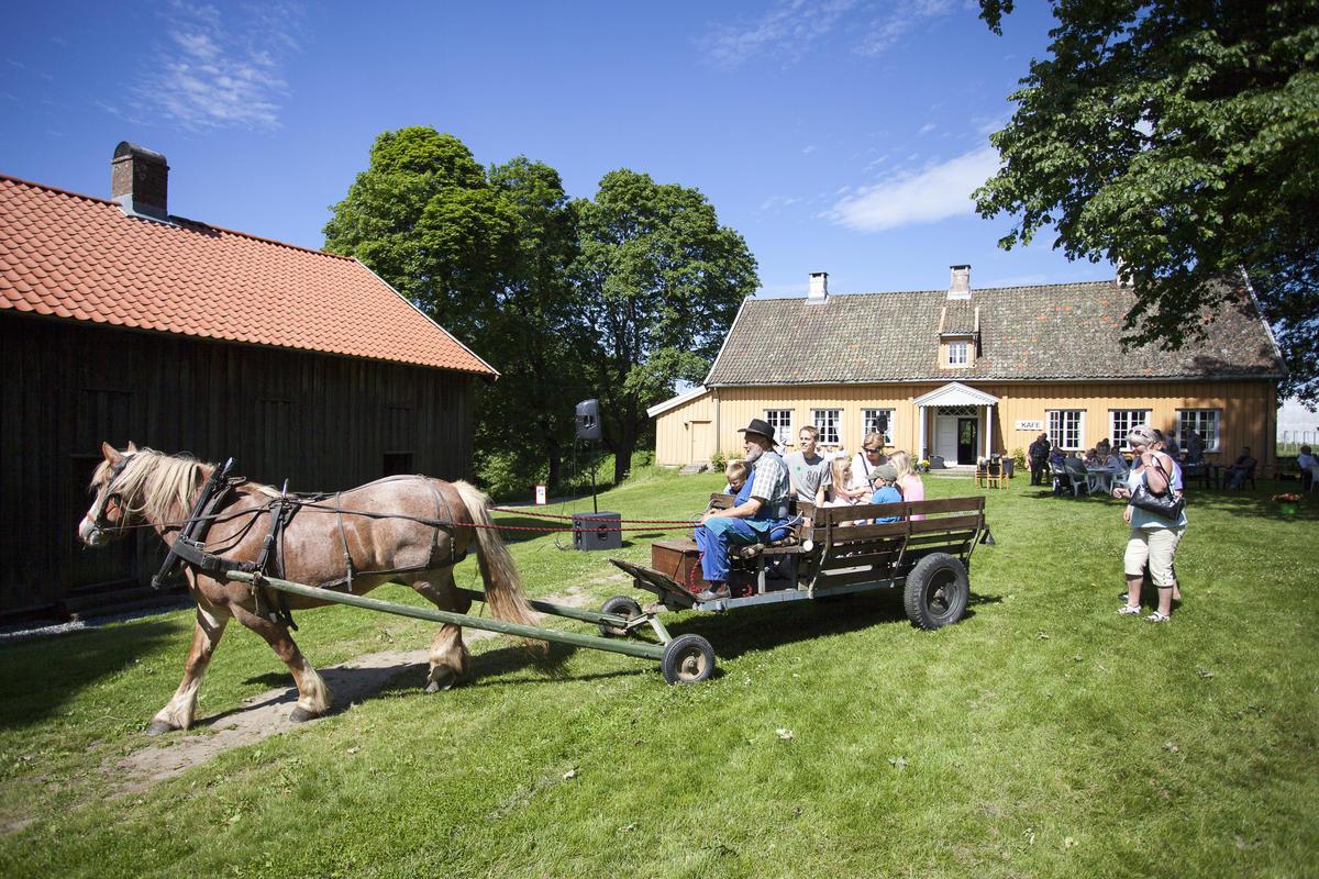 Hest og vogn på Skedsmo bygdemuseum