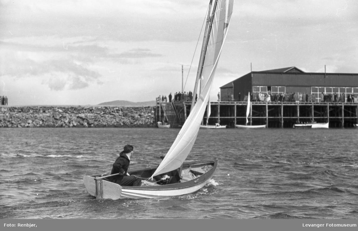 Regatta i Levangersundet på 1930-tallet.