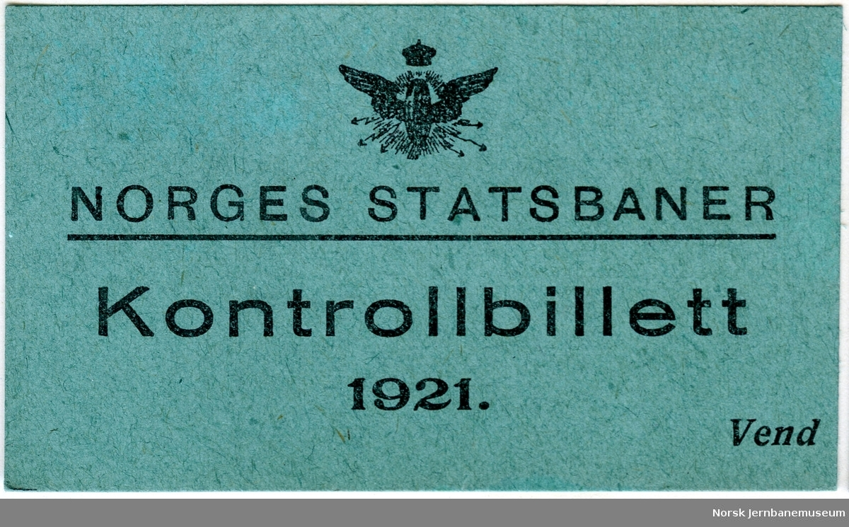 Kontrollbillett 1921
