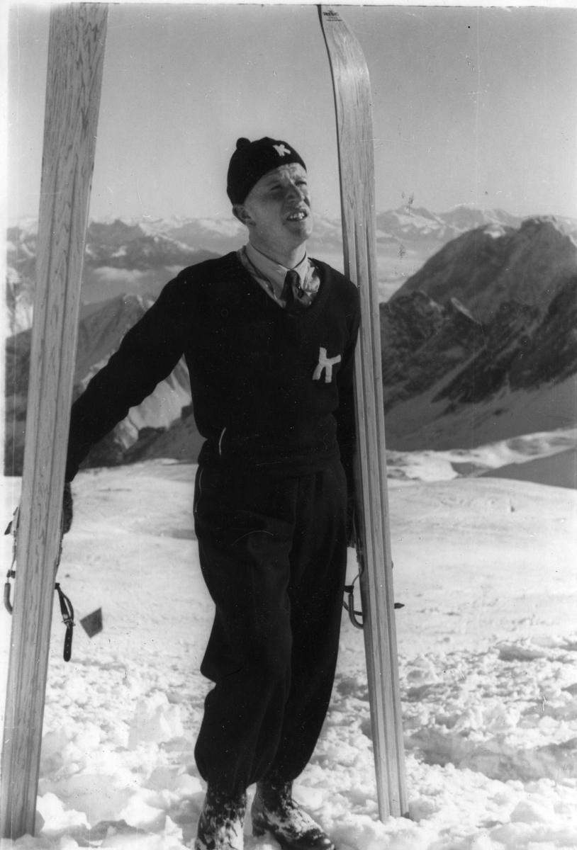 Norwegian skier Birger Ruud in Germany 1934