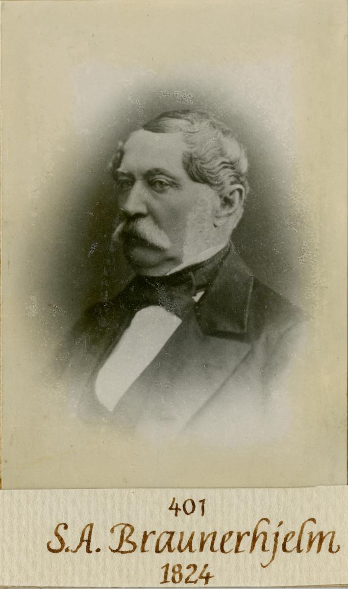 Porträtt av Samuel August Braunerhjelm, officer i armén.