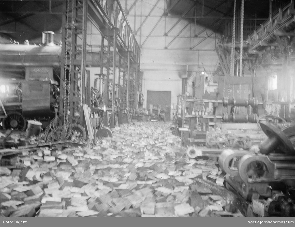 Flommen i 1927 : NSBs verksted Hamar