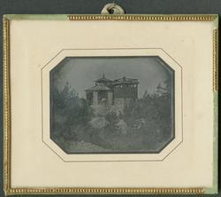 Daguerreotyp. Laven över Carl XI:s schakt från söder. Bilden