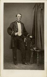 Porträtt av kapten Carl Leonhard Christiernin, baningeniör v