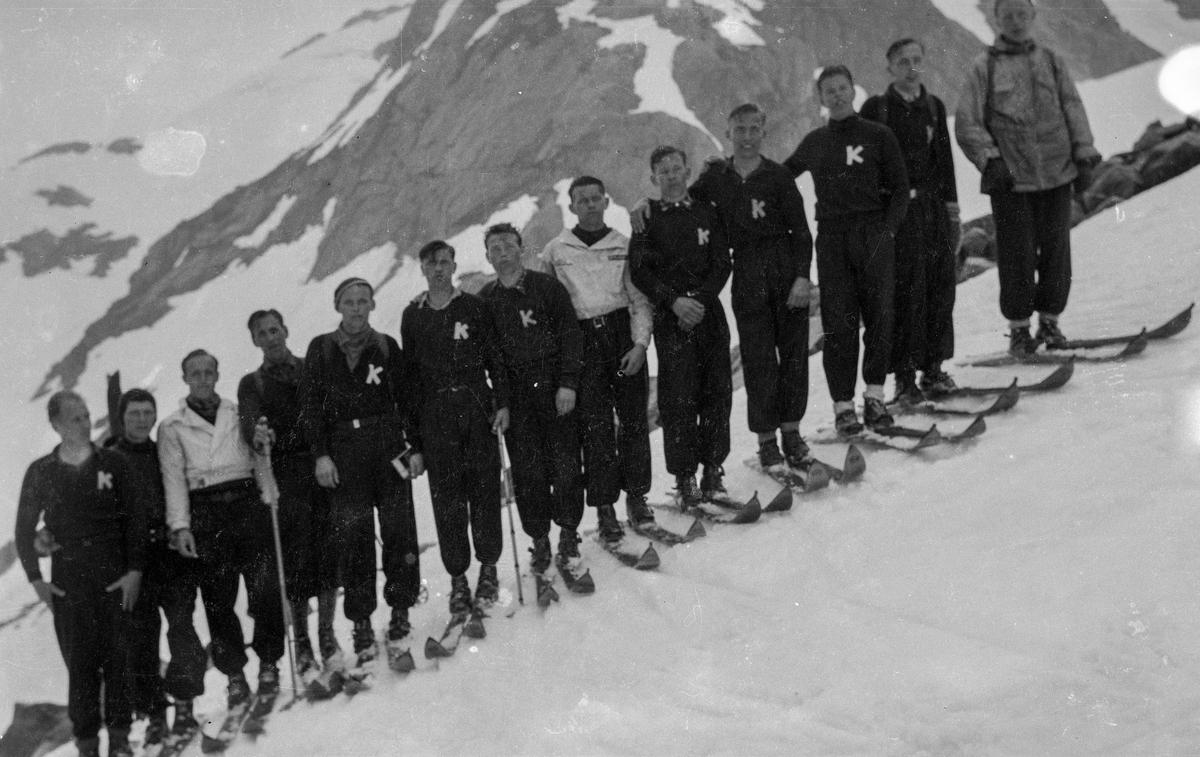 Kongsberg skiers at Jungfraujoch in 1932
