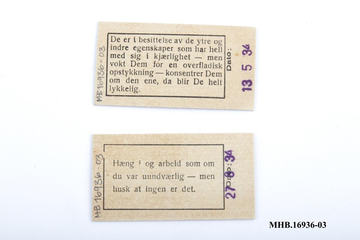 Vektkort med stemplet kg foran, og motiverende ord bak (ordtak).