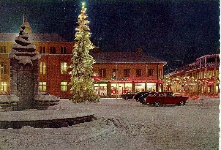 Stora torget. Vinterbild 1964.