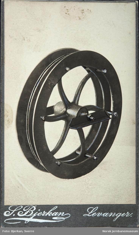 Lamellhjul fra Holms dresinfabrikk