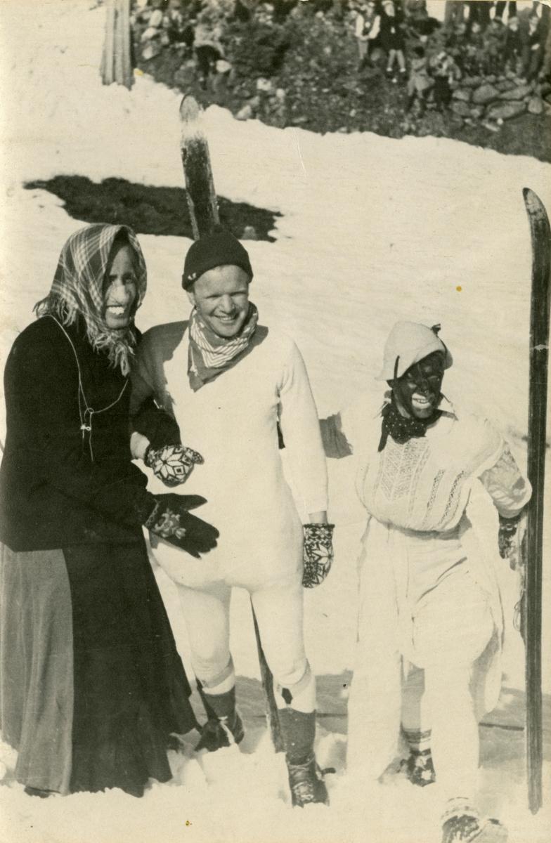 Kongsberg skiers in fancy dress show