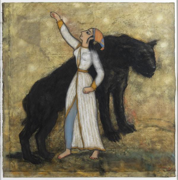 Dragen av Svein Bolling, pastell
