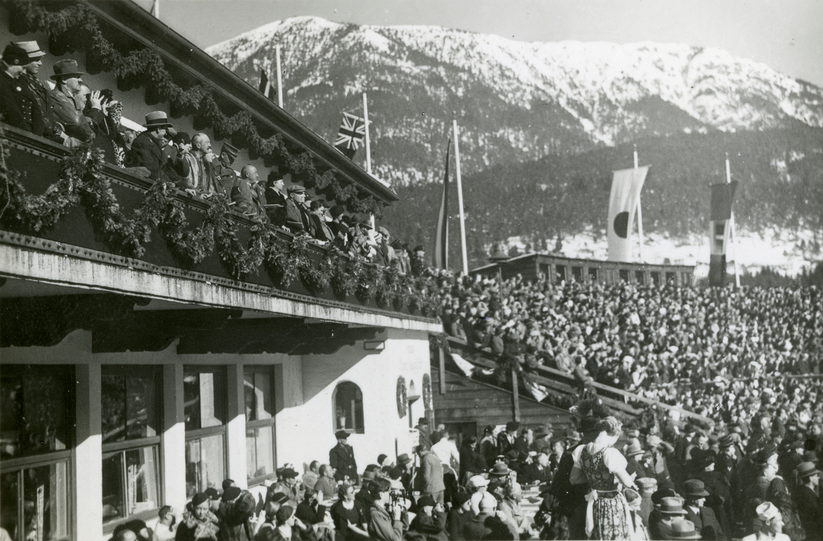 The grand stand during OG at Garmisch