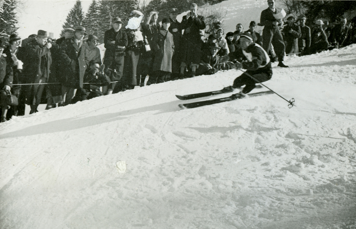 Downhill racer Birger Ruud at Garmisch