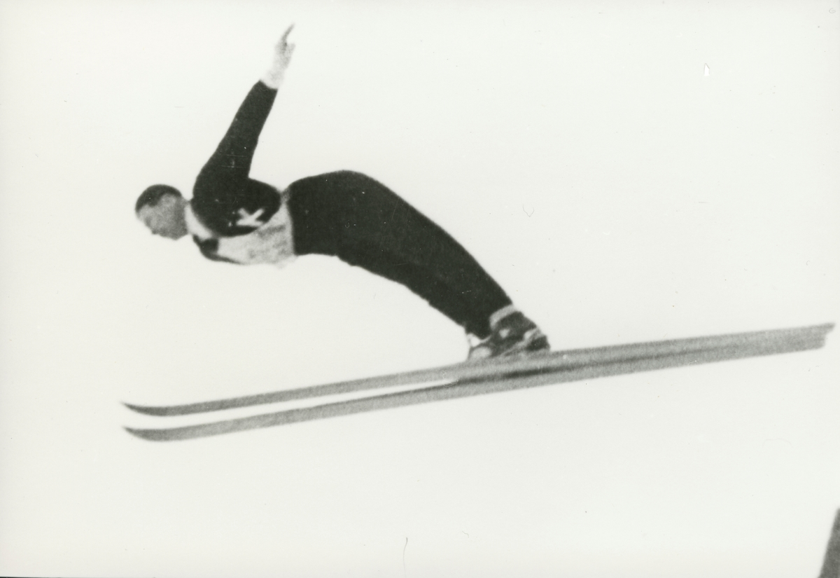 Athlete Birger Ruud in action