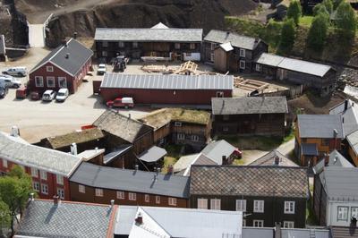 Kurantgården med laftekonstruksjoner