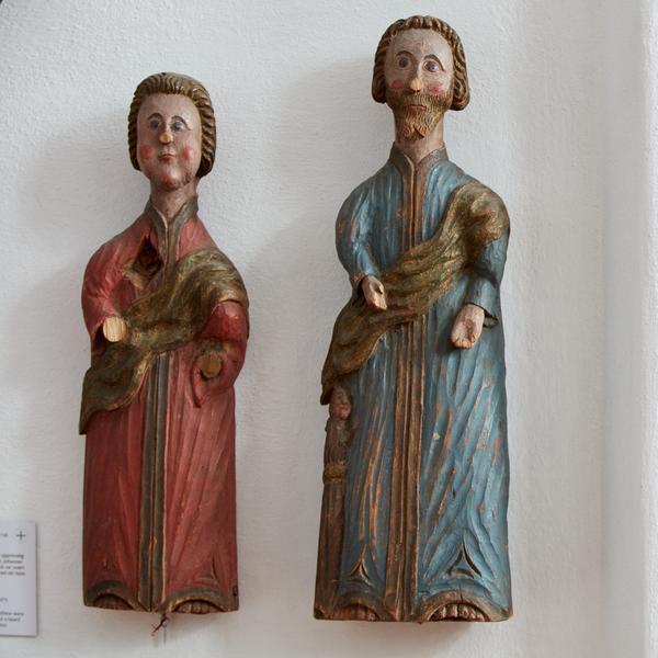 To evangelister. I utstillingen Norsk Kirkekunst. Foto/Photo