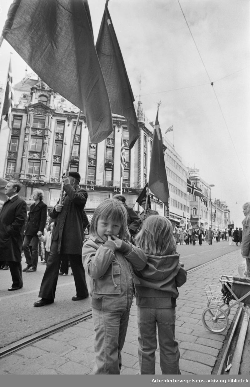 1. mai 1979 i Oslo.Samorganisasjonens tog