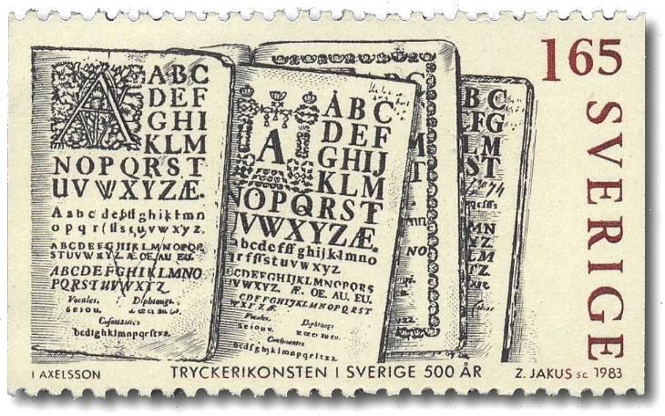ABC-böcker började tryckas omkring 1768.
