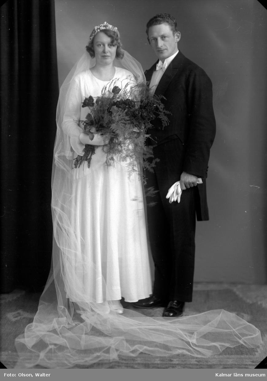 Grupporträtt av ett gift par från Eringsboda.