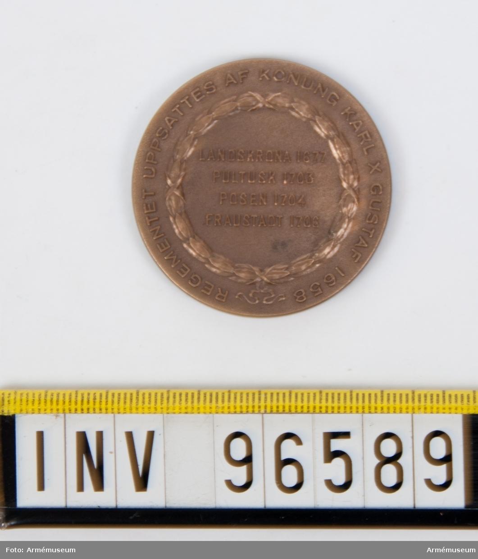 Medalj i brons för Skånska husarregementet.