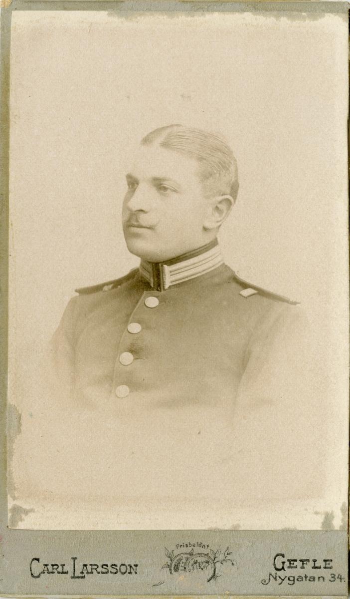 Porträtt av Ivar Axelsson Härdelin, löjtnant vid Hälsinge regemente I 14.