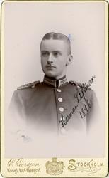 Porträtt av Herman Richard Låftman, underlöjtnant vid Hallan