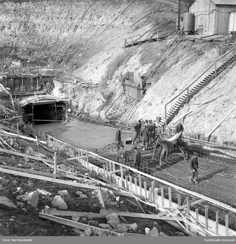 Det underjordiska tunnelbygget till  reningsverket, Tivoliverket.