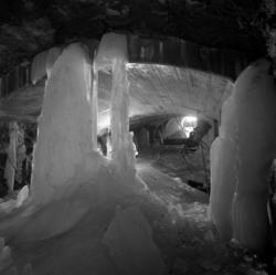 Isbildning i reningsverkets tunnelbygge i Norra berget.